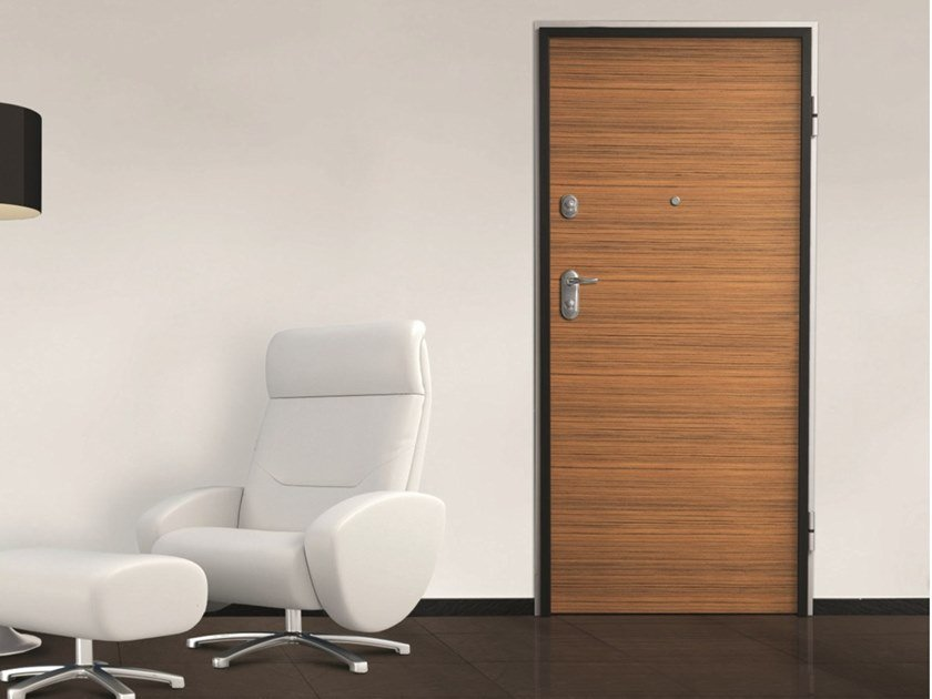 Fire-rated safety door with electronic lock SYNERGY-IN SENTRY 1 by DIERRE