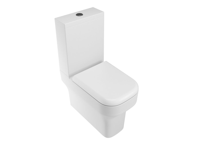 Close coupled ceramic toilet SYNTHESIS | Close coupled toilet by Olympia Ceramica