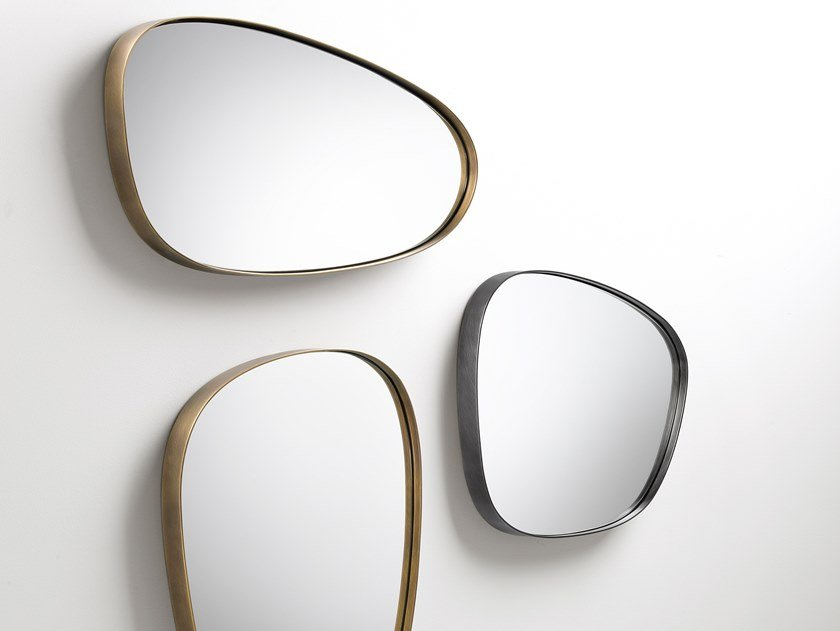 Specchio da parete con cornice in metallo SYRO | Specchio by DE CASTELLI
