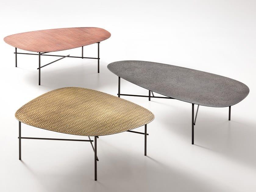 Tavolino in metallo SYRO XL by DE CASTELLI