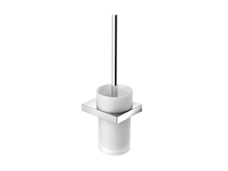 Wall-mounted glass toilet brush SYSTEM 100 | Toilet brush by HEWI