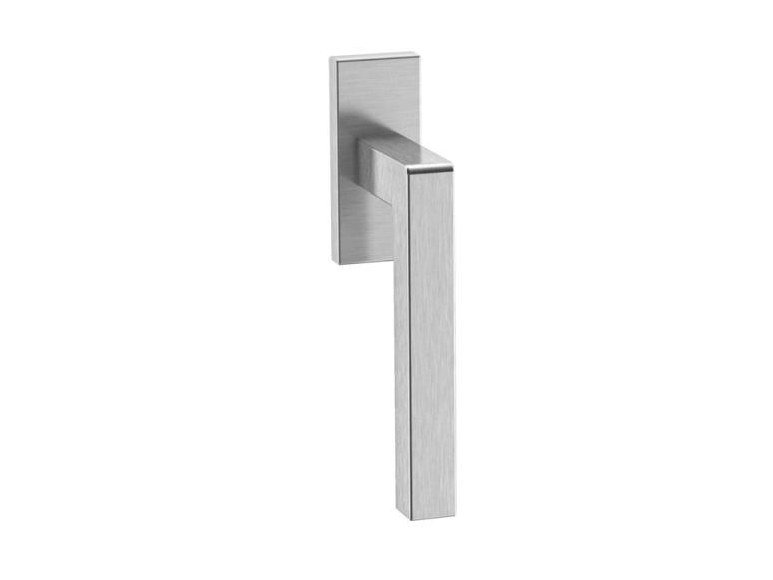 Stainless steel window handle on rose SYSTEM 100 | Window handle by HEWI