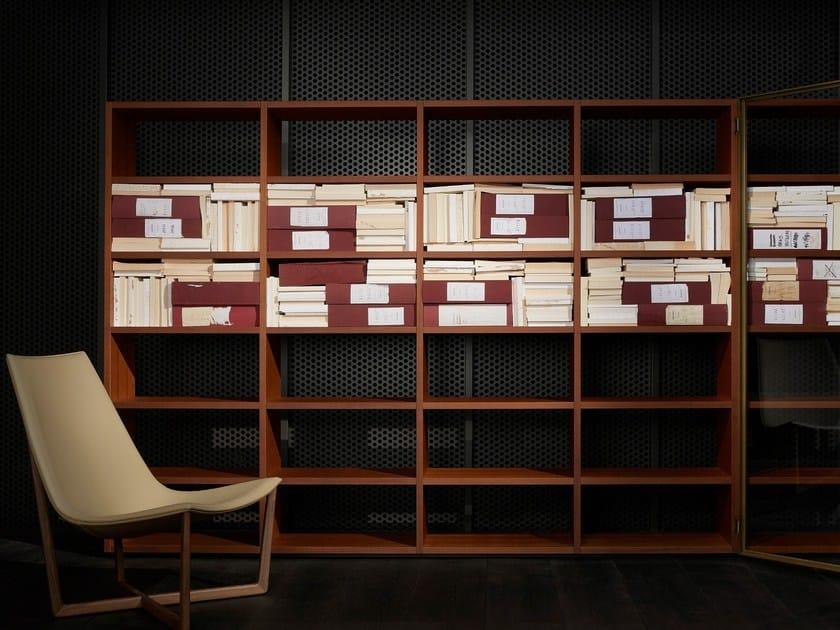 Libreria a giorno componibile in legno SYSTEM 2014 by Porro