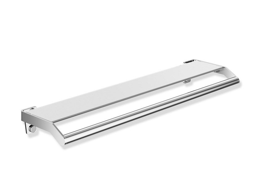 Maniglione bagno / mensola bagno in acciaio inox e vetro SYSTEM 900   Mensola bagno by HEWI