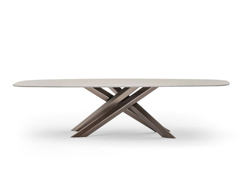 Rectangular garden table SYSTEM STAR by Varaschin