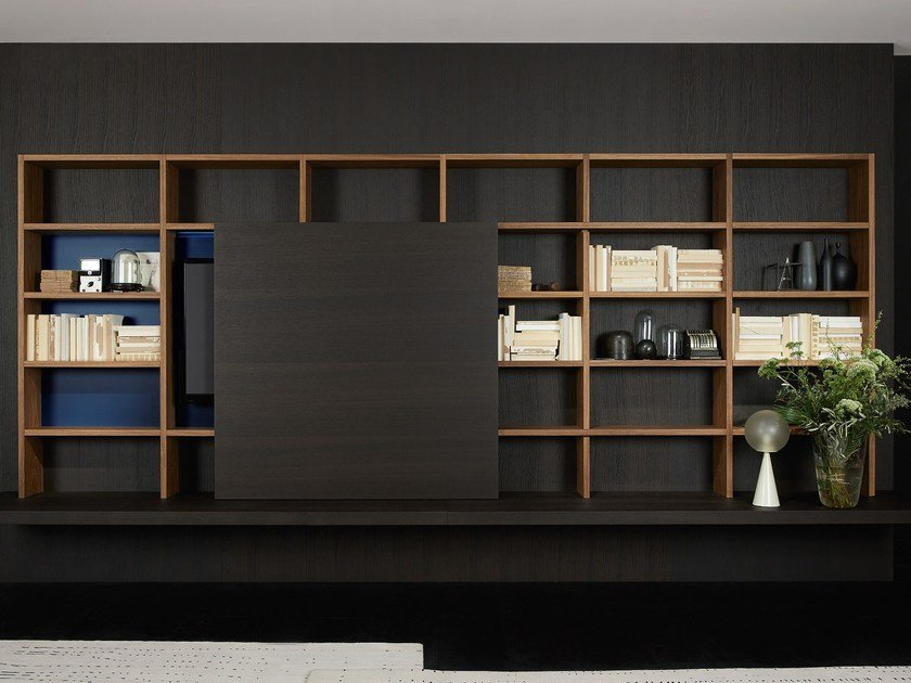 Open lacquered wall cabinet SYSTEM | Wall cabinet by Porro