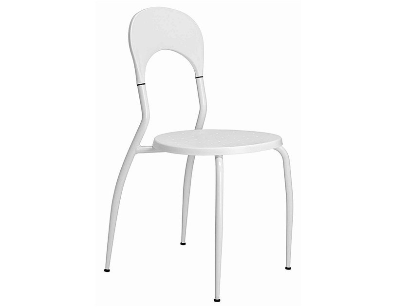 Stackable polypropylene chair Sandy 077 by Metalmobil