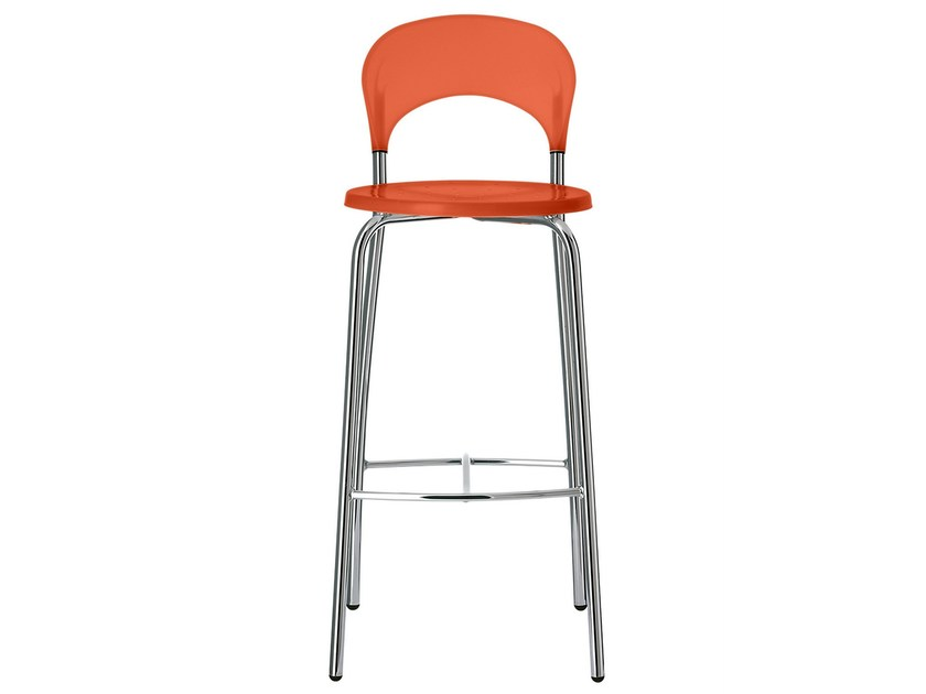 Polypropylene stool with footrest Sandy 377 by Metalmobil