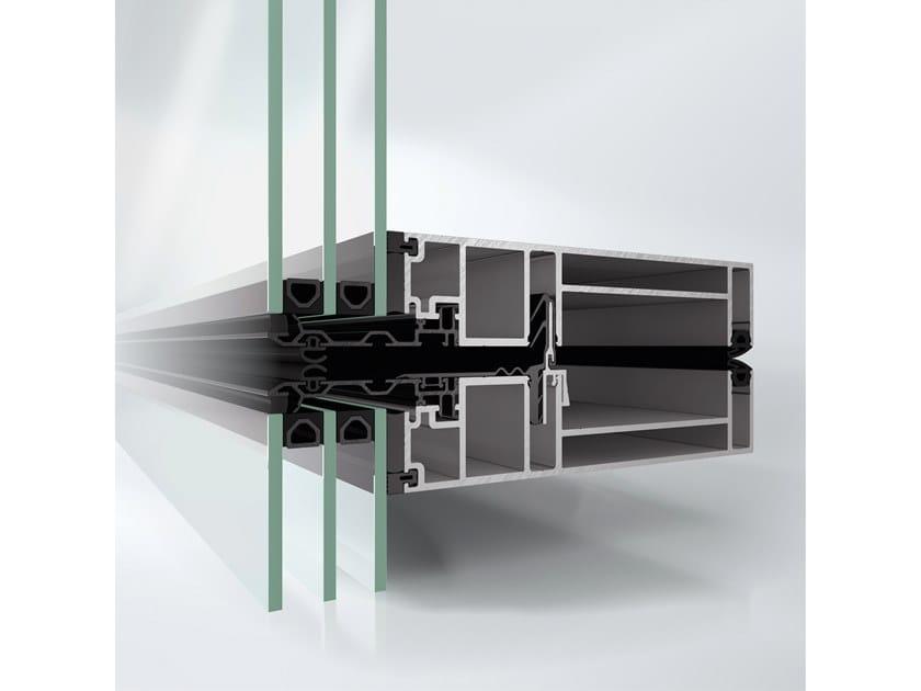 Sistema per facciata continua in alluminio Schüco AF UDC 80 SG by Schüco