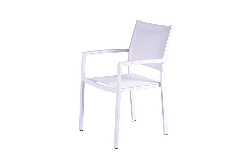 Contemporary style stackable garden chair with armrests Dafne by Mediterraneo by GPB