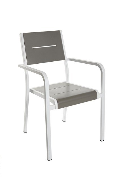 Contemporary style stackable garden chair with armrests Lilia by Mediterraneo by GPB
