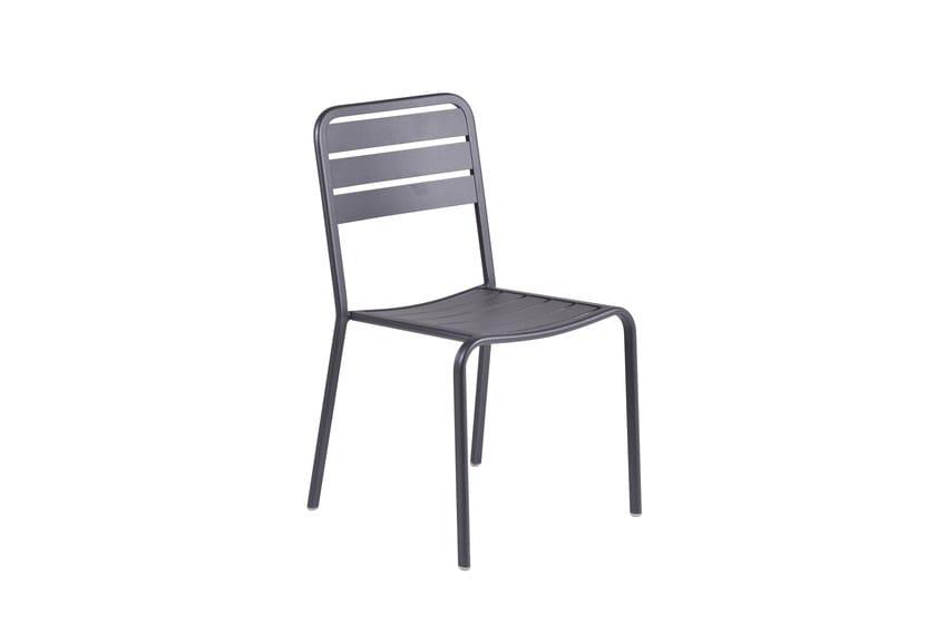 Contemporary style stackable aluminium garden chair Gamma by Mediterraneo by GPB