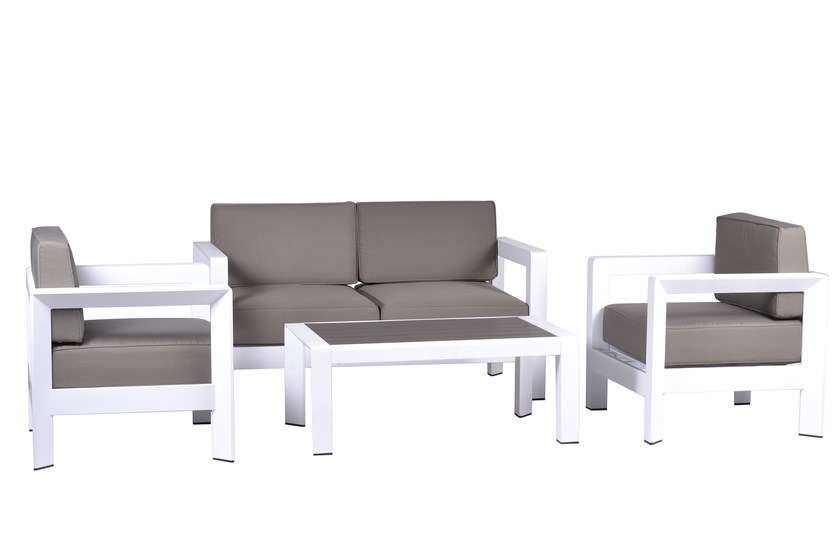Contemporary style metal garden armchair with armrests Set Erica by Mediterraneo by GPB