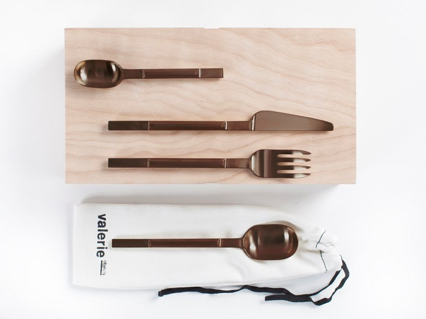 Stainless steel cutlery set Cutlery set by Valerie_Objects