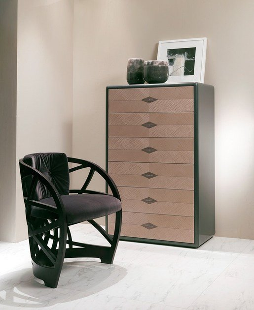 Wooden chest of drawers DESYO LUX | Chest of drawers by Carpanelli Contemporary