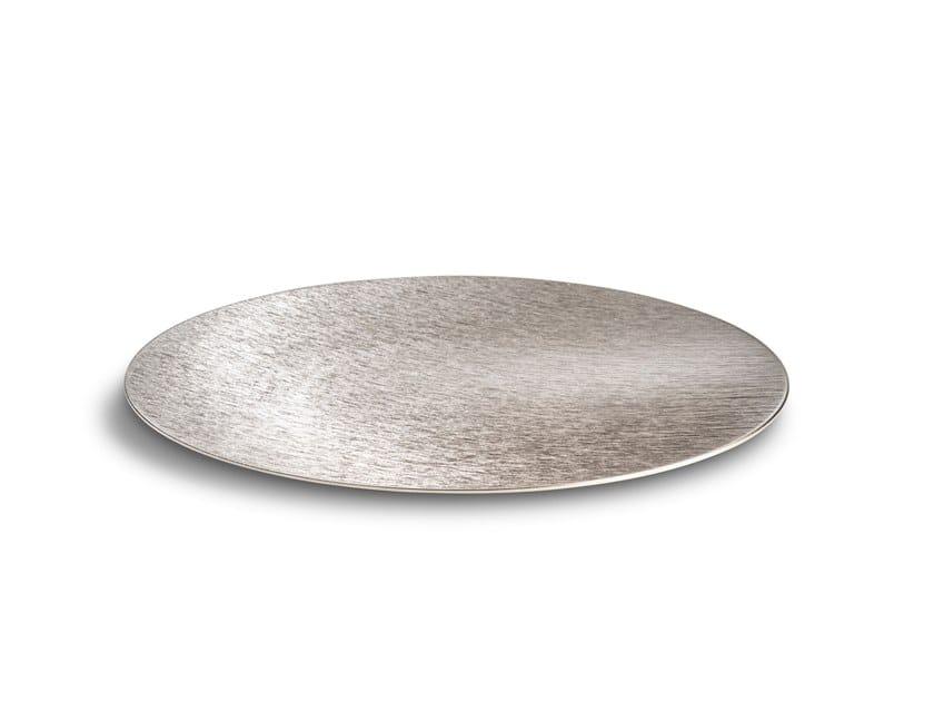 Piatto piano decorativo in alluminio DVNE Sfera Flat DVNE 40 Inox by Alumina