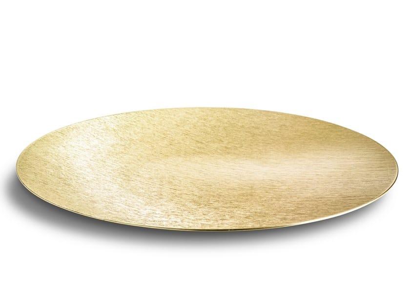Piatto piano decorativo in alluminio DVNE Sfera Flat DVNE 50 Champagne by Alumina