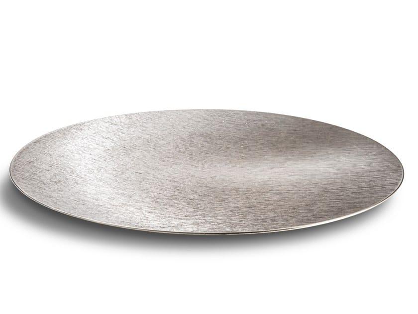 Piatto piano decorativo in alluminio DVNE Sfera Flat DVNE 50 Inox by Alumina