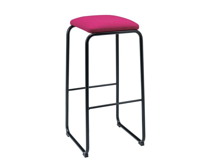 Upholstered stool with footrest Sharing 388 by Metalmobil