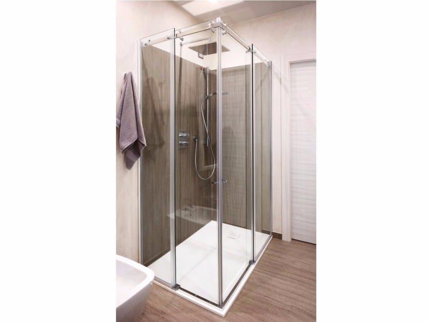Box doccia angolare in cristallo con porta scorrevole Box doccia con porta scorrevole by CARMENTA