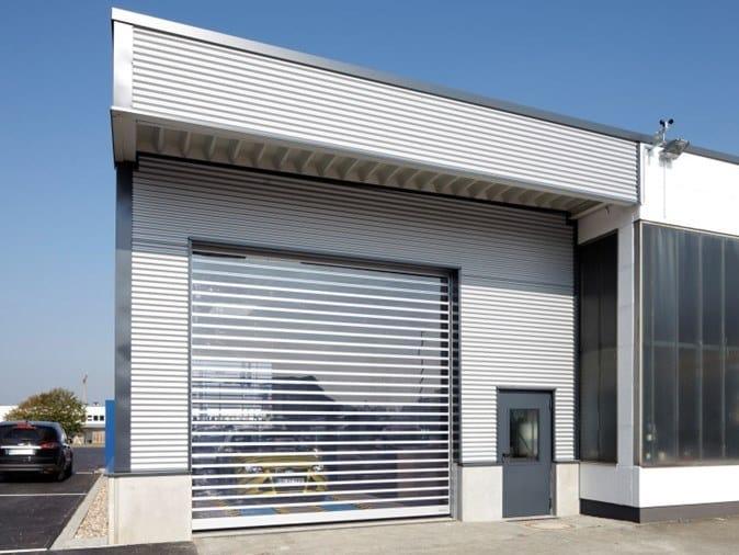 Sectional door Slatted exterior doors by ASSA ABLOY
