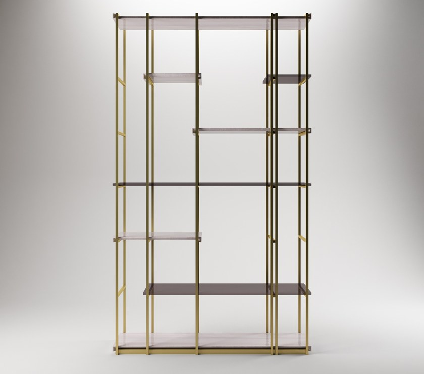 Contemporary style metal bookcase SOCRATE by Paolo Castelli