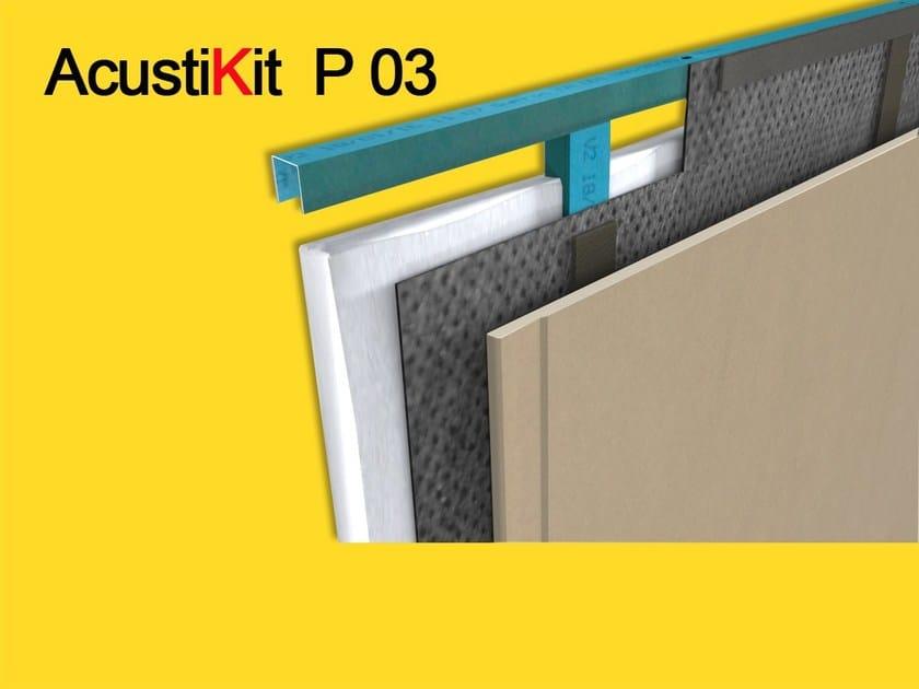 Rubber sound insulation panel ACUSTIKIT P03  ISOLANTE ACUSTICO PARETI by GHIROTTO