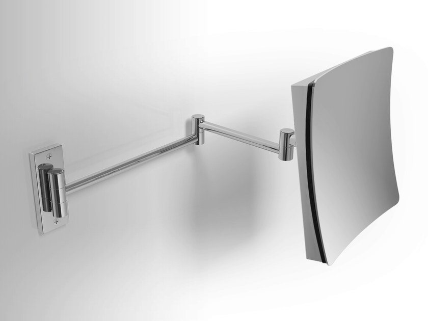 Wall-mounted shaving mirror with integrated lighting Shaving mirror by Alna
