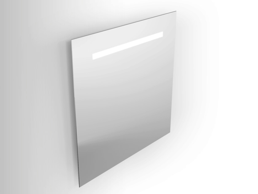 Wall-mounted mirror with integrated lighting Wall-mounted mirror by Alna
