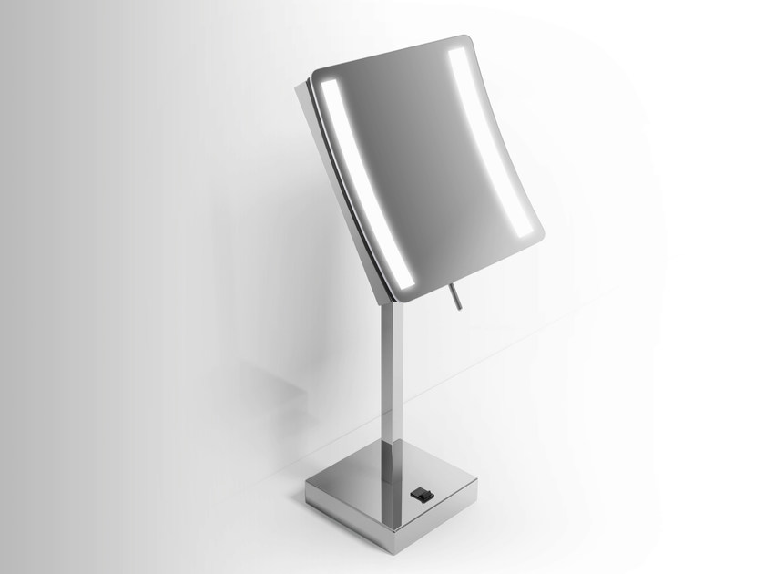 Countertop shaving mirror with integrated lighting Shaving mirror by Alna