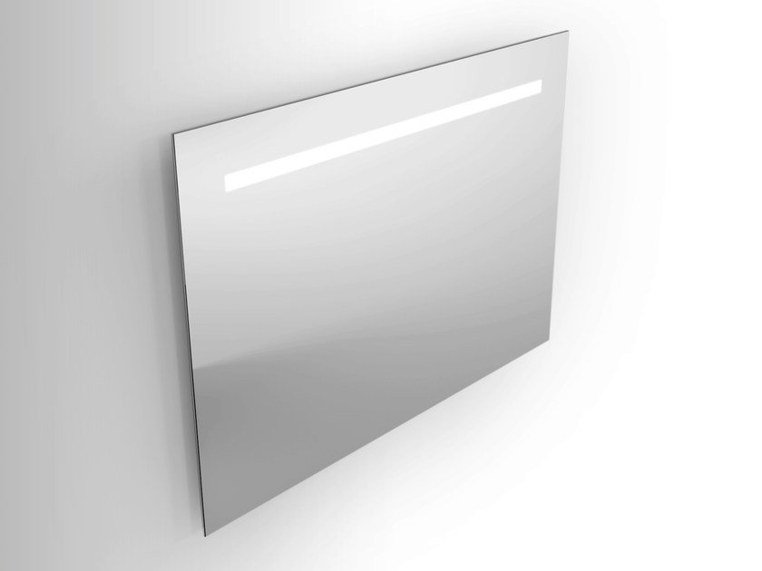 Wall-mounted mirror with integrated lighting Rectangular mirror by Alna