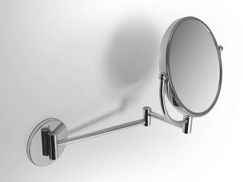 Double-sided round wall-mounted shaving mirror Shaving mirror by Alna