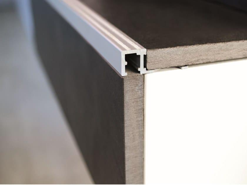 Profilo paragradino in alluminio anodizzato SQUAREJOLLY SJR by PROFILITEC