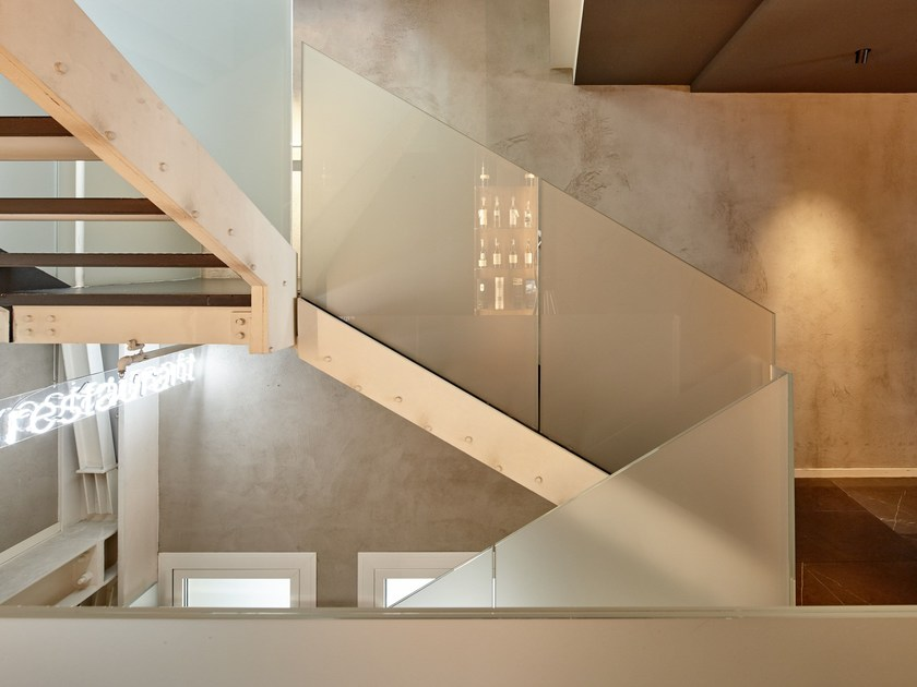 Glass Open staircase Stairs by ALUVETRO