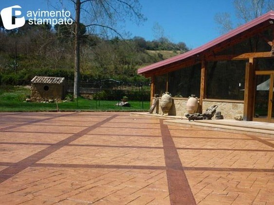 Outdoor concrete continuous flooring Stamped flooring by Stone International