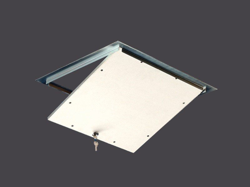 Hatches for Plasterboard in steel with lock STEEL HATCHES WITH LOCK by Gyps