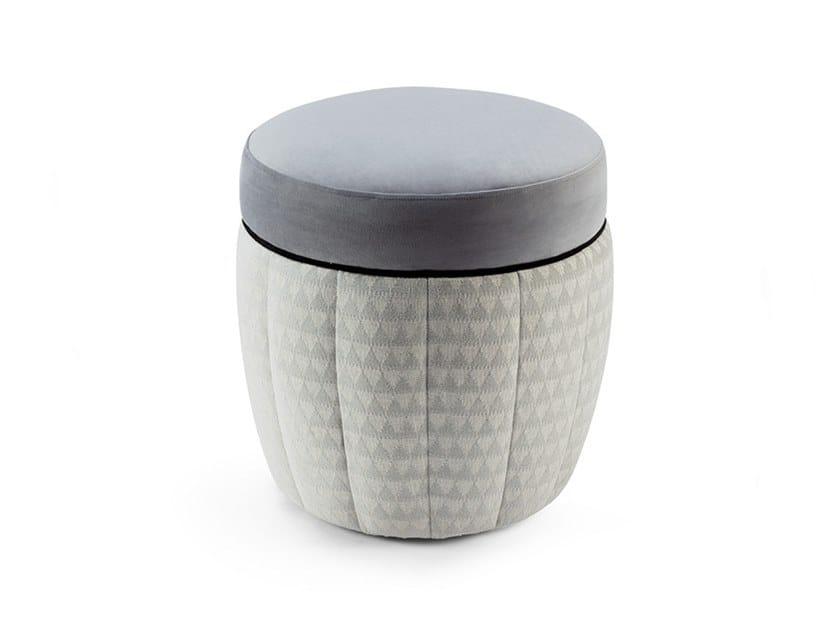 Round fabric pouf Stella stool by Mambo Unlimited Ideas