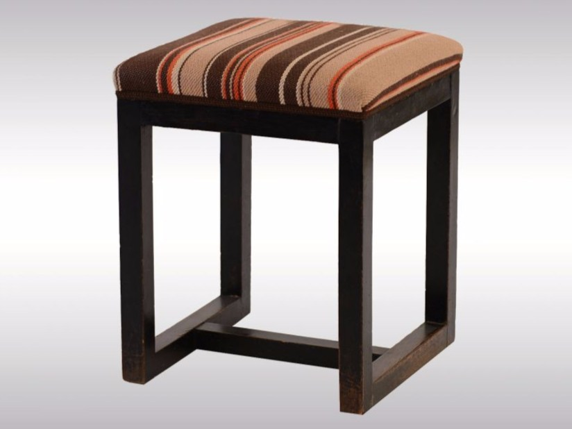 Upholstered beech stool Stool by Woka Lamps Vienna