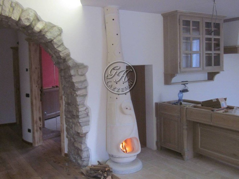 Wood-burning natural stone stove Stove 1 by GH LAZZERINI