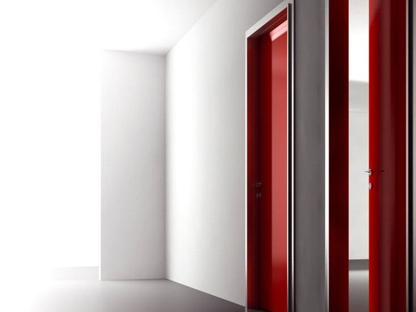 Hinged flush-fitting wooden door SUITE 300 by Interno Doors