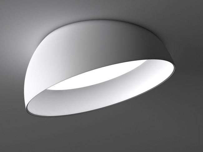 LED semi-inset ceiling lamp SUPERDOME RECESSED by Delta Light