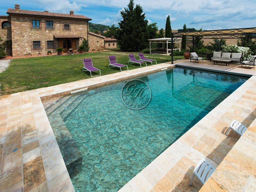 In-Ground natural stone swimming pool Swimming pool 3 by GH LAZZERINI