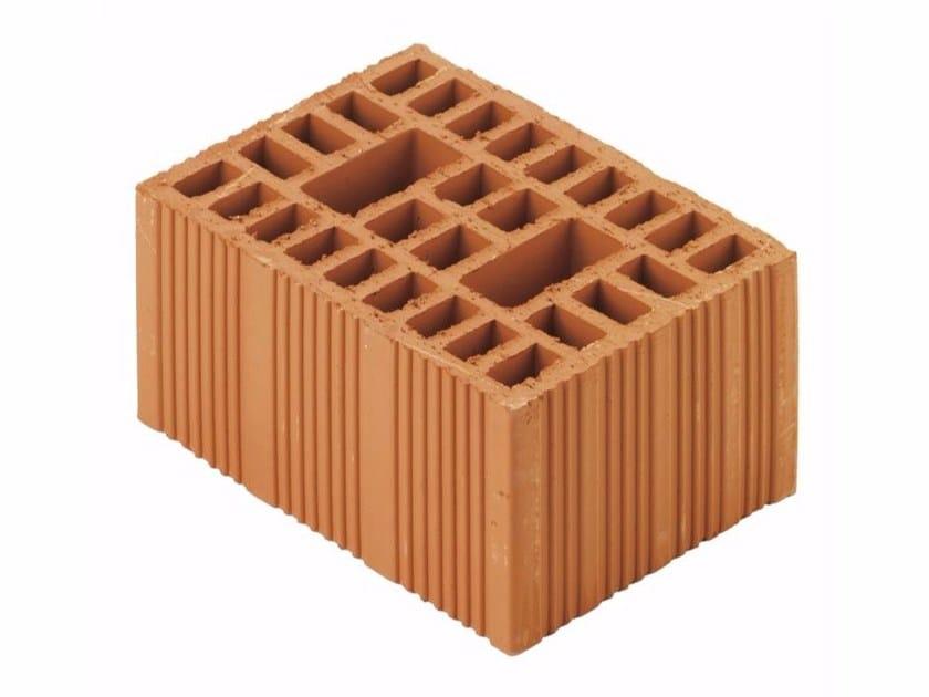 Clay building block / External masonry clay block Swiss block 18x25x13 by Wienerberger