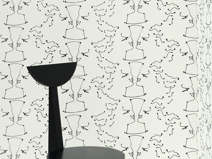 Motif nonwoven wallpaper TÊTE À TÊTE by LELIEVRE