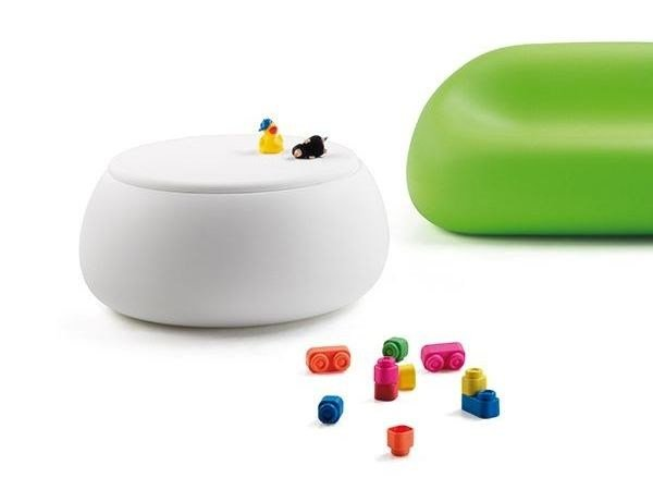 Small garden table low round Polyethylene T BALL by Plust