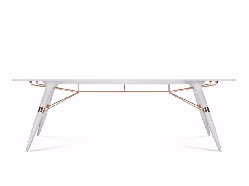 Tavolo rettangolare in Corian® T / BIG by dsignedby