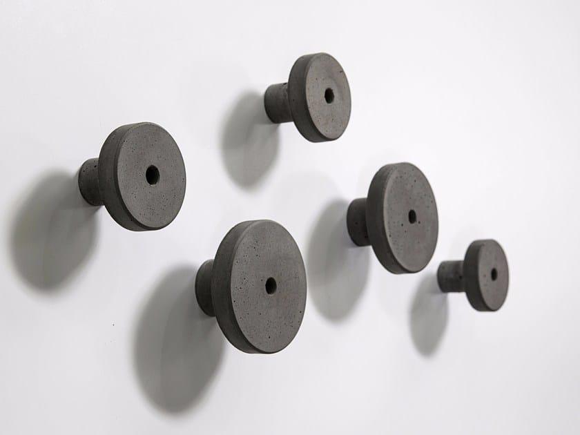 Wall-mounted concrete coat rack T by Bentu Design