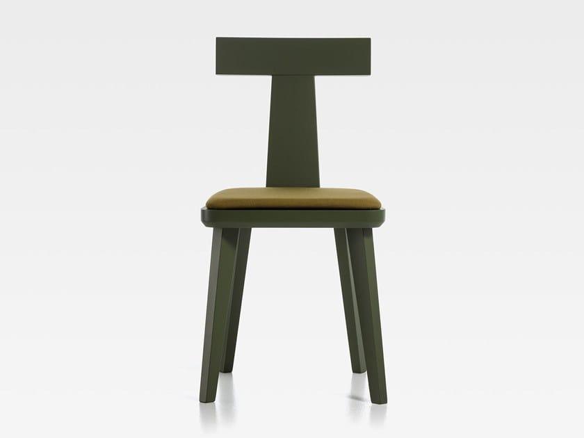 Sedia in legno con cuscino integrato T-COFFEE | Sedia con cuscino integrato by SIPA