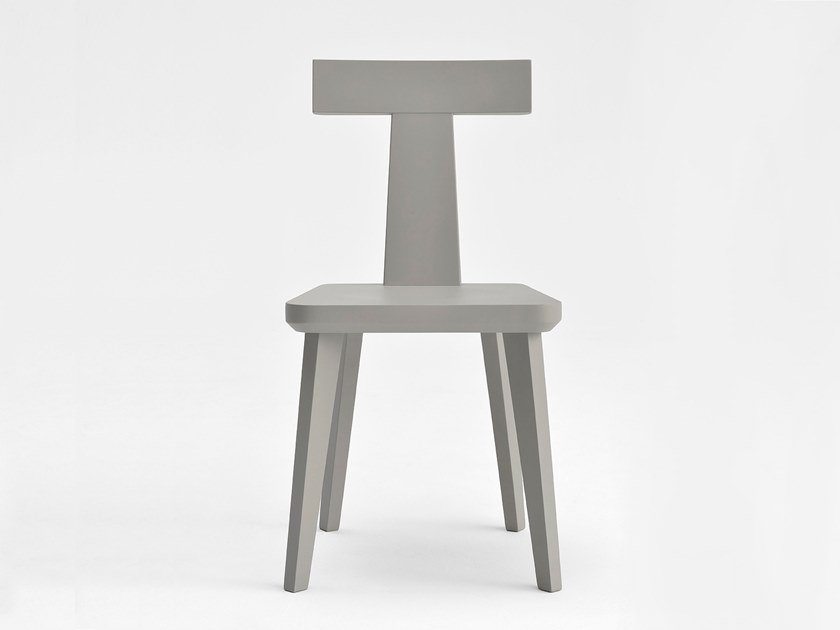Lacquered wooden chair T-COFFEE | Lacquered chair by SIPA