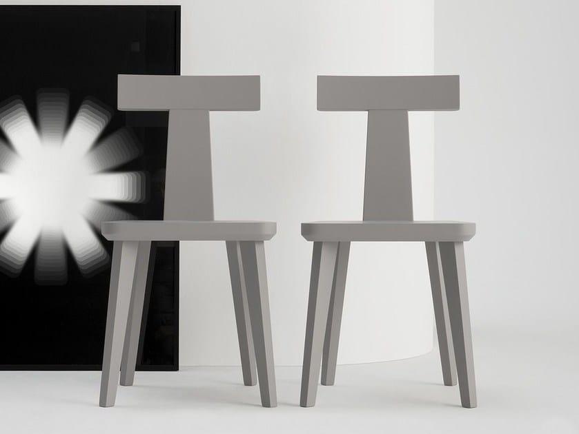 Sedia in legno massello T COFFEE | Sedia in legno massello - SIPA
